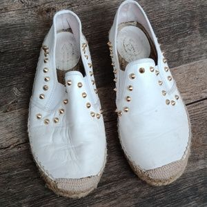 ASH white leather loafers